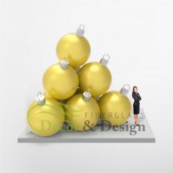 Decorative figure Statue Xmas Ball 150 Pyramid