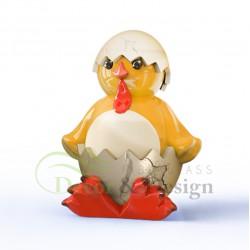 Figura dekoracyjna Kurczak Wielkanocny w skorupce duży