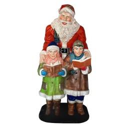 Figura dekoracyjna Święty Mikołaj z dziećmi