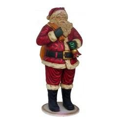 Figura dekoracyjna Święty Mikołaj z torbą