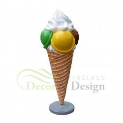 Figura dekoracyjna Lód 4 kulki Lox Mix 2
