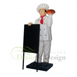 Chef with Menu Plate