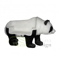 Figura dekoracyjna Miś Panda - ławka