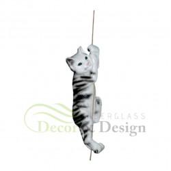 Figura dekoracyjna Kot na sznurku