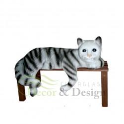 Figura dekoracyjna Kot na ławe