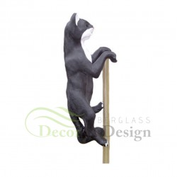 Figura dekoracyjna Kot na kiju