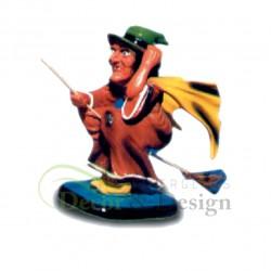 Figura dekoracyjna Wiedźma na miotle