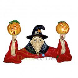 Figura dekoracyjna Wiedźma z dyniami