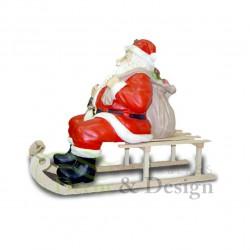 Figura dekoracyjna Mikołaj na saniach