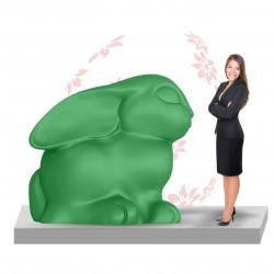 Figura dekoracyjna Zając Wielkanocny XL
