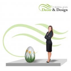 Figura dekoracyjna Jajko Wielkanocne l 75 CM