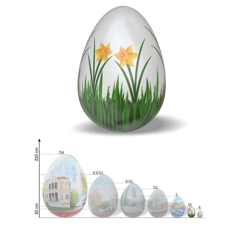 figure decorative easter egg two decorative wooden eggs handpainted easter egg spring
